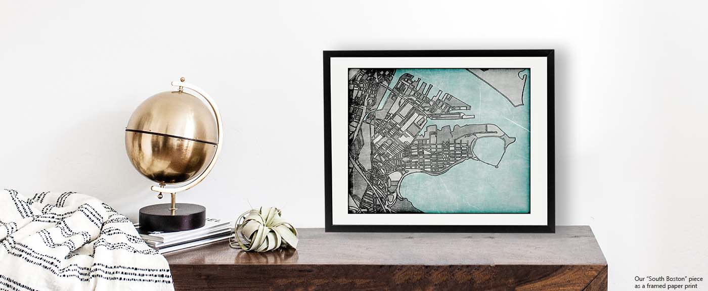 <div class='title'>           Modern Art Print of South Boston - Shop BOSTON art prints. Neighborhood Art | Contemporary City Print | South Boston Art         </div>                 <div class='description'>           Shop our retro collection. South Boston art print for sale by Carland Cartography.          </div>
