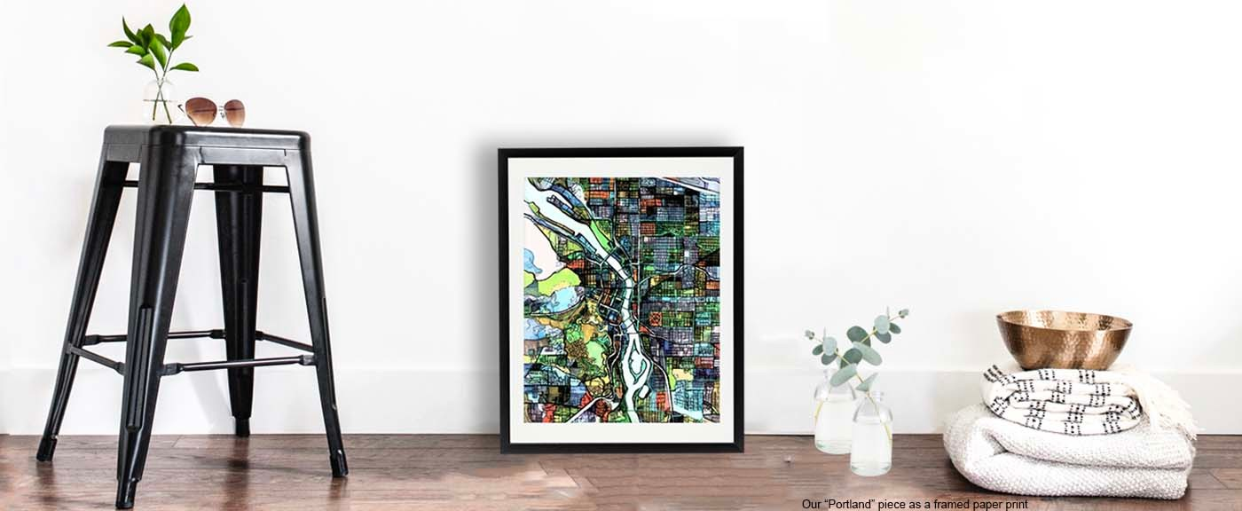 <div class='title'>           Modern Wall Art – City Map of PORTLAND OREGON. Abstract Map Print | Housewarming Present | Abstract Office Art | Portland Art         </div>                 <div class='description'>           Portland Oregon map art for sale by Carland Cartography. Browse selection of art on paper canvas and more         </div>