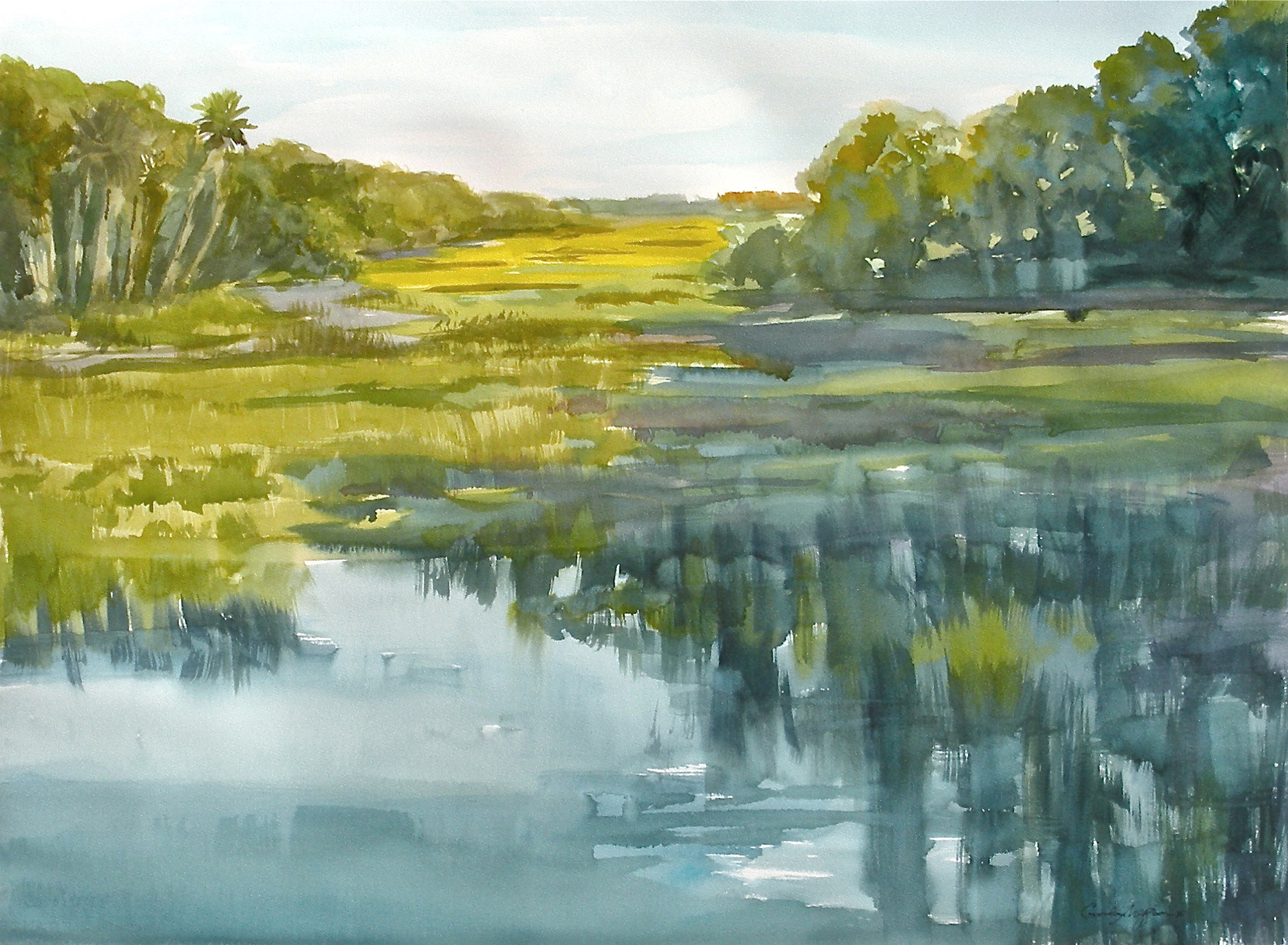 Long island marsh 22 x30 original dyvf5w