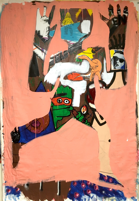 First man painting brandon sines wet paint nyc xt2mci