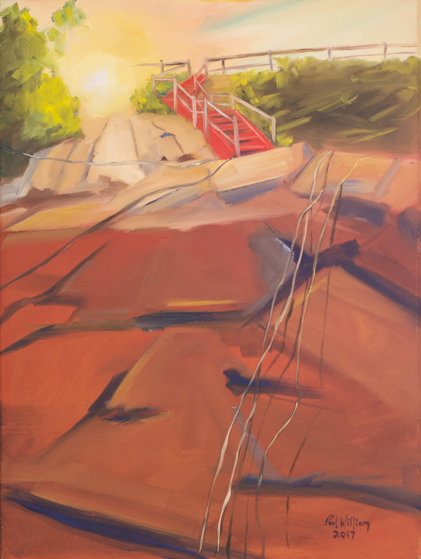 Marblehead red stairs pxvguj