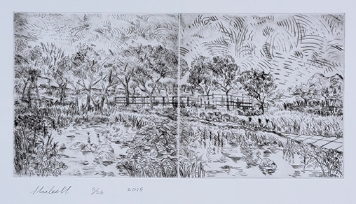 My day in the country drypoint etching mz6slc