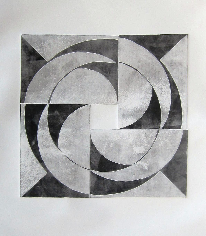 Jerry skibell pinwheel series circles 2 13x13 in. 2012 ulung1