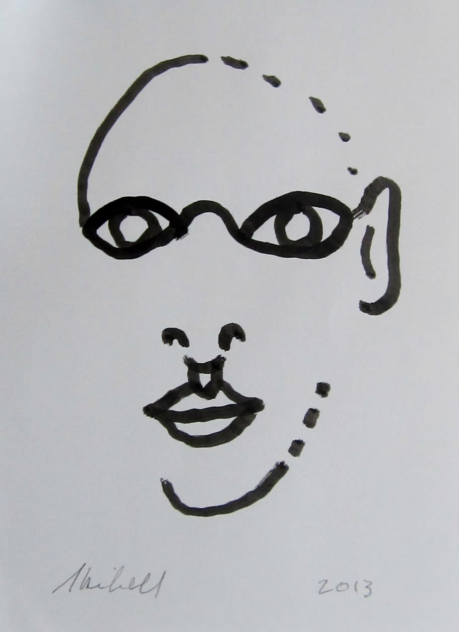 Face pieces ink drawing ykmmzb