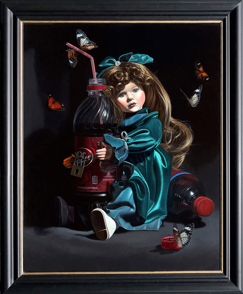 Kevin grass sugar baby framed acrylic on panel painting qwnzvz