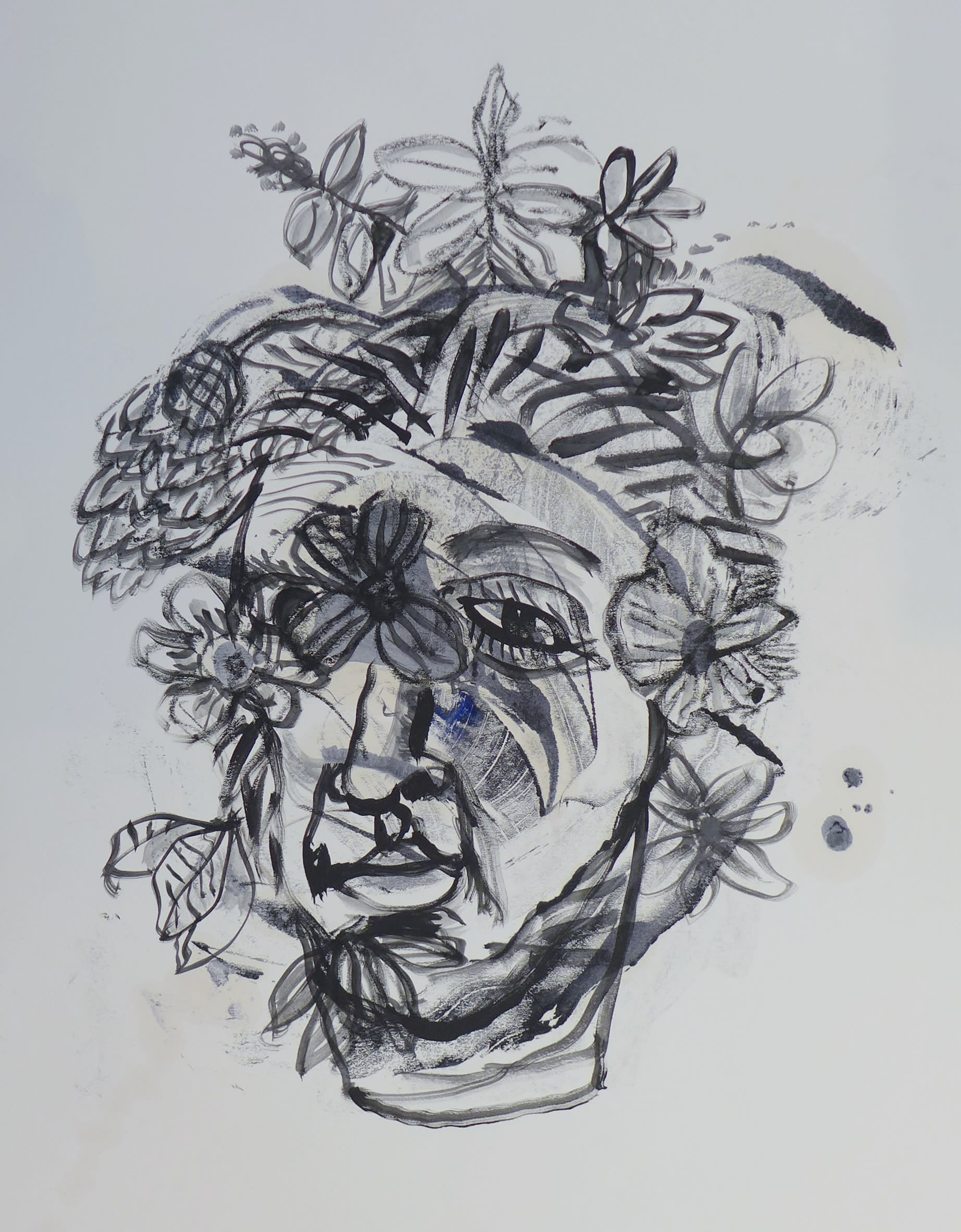 Face with flowers skibell bnab3x