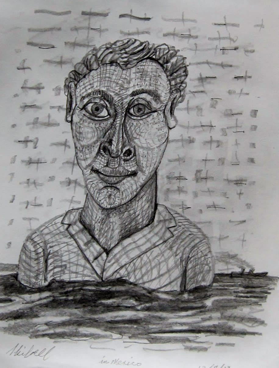Man in the ocean skibell eacw9t