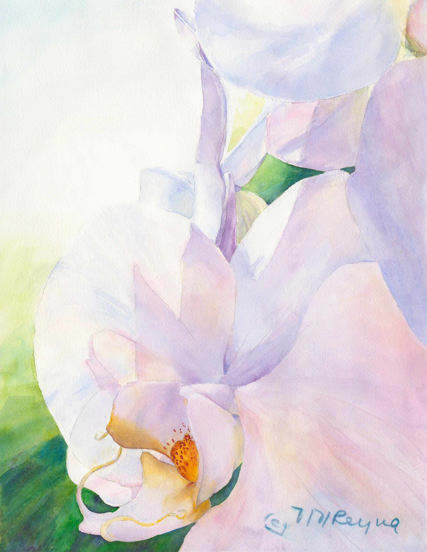 Purple flower w signature axuwas