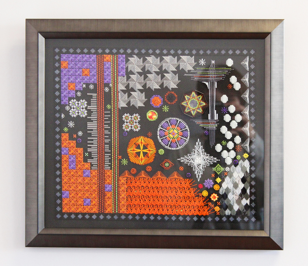 Fine original art framing naperville il the bold colors of print call for a bold matting and frame the piece has 25 inches of blue suede matting and it uses one of our seldom used frames to jeuxipadfo Images