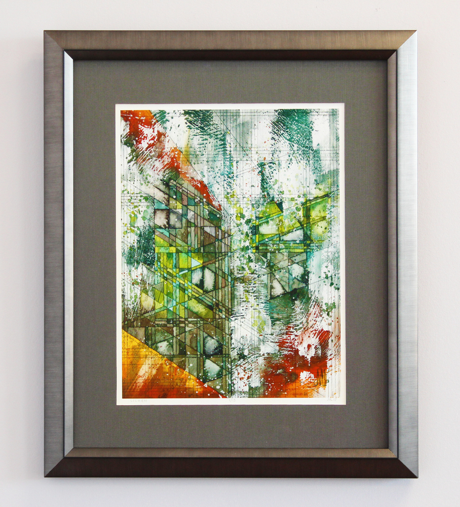 Fine original art framing naperville il a hand drawing using tea stains for the color the white and black frame really make you look right into the picture jeuxipadfo Images