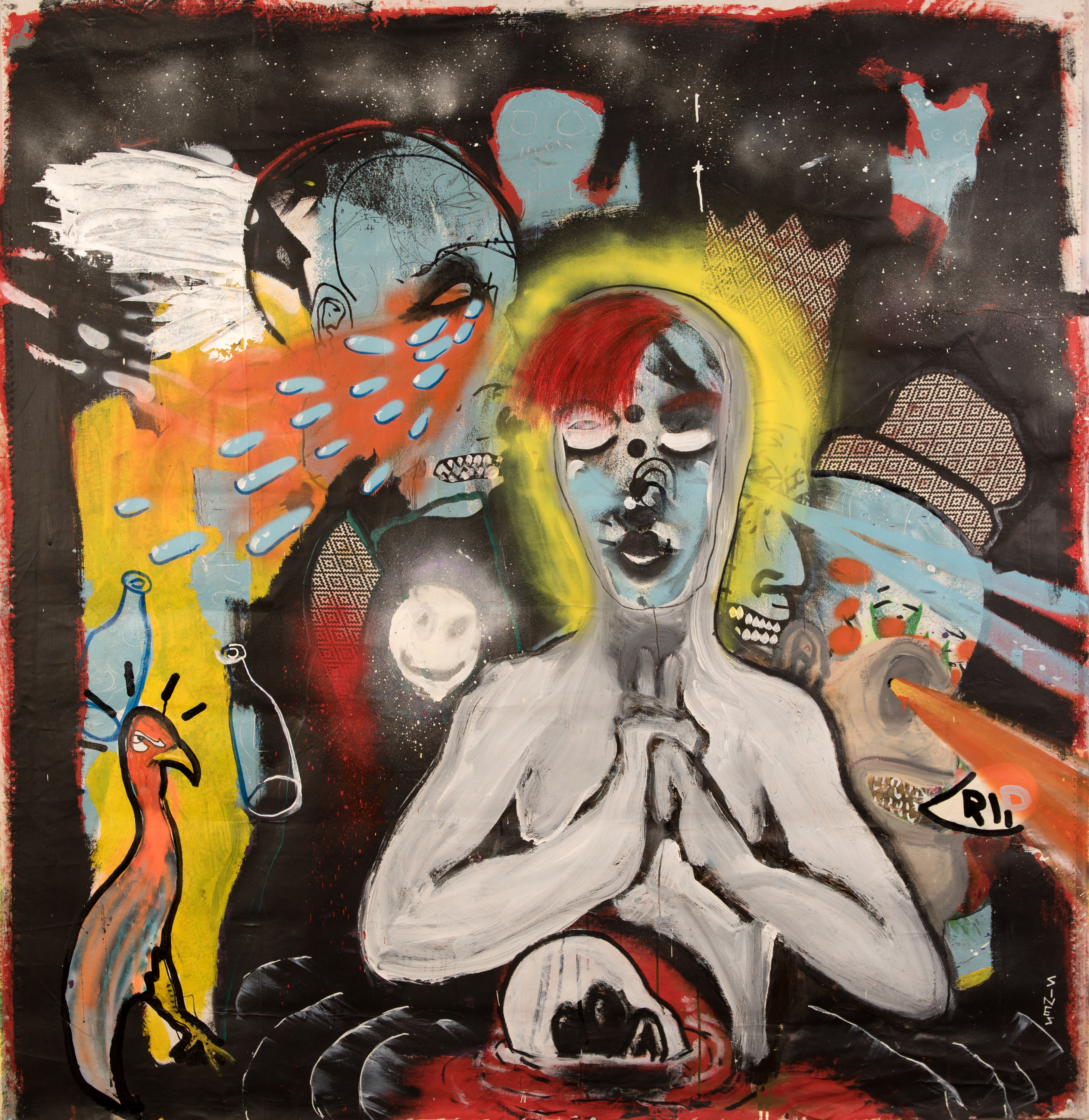 Brandon sines   the march   60 x 62 inches   painting   wetpaintnyc   art ktr3zi