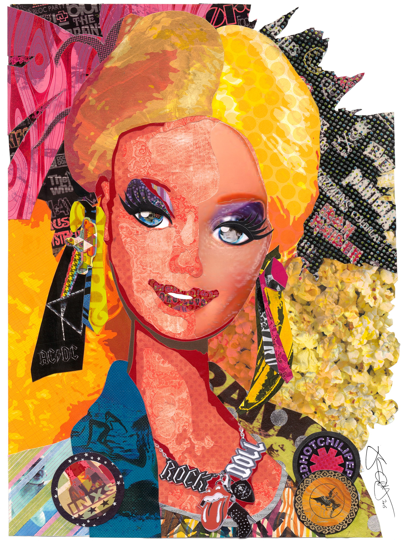 Barbie 12 x 16 signed uv0e9x