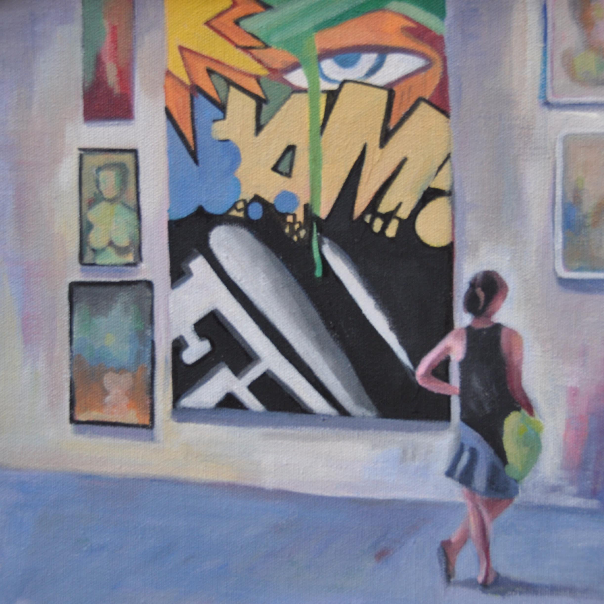 25x25 street art gallery lady by steph fonteyn ztrurq