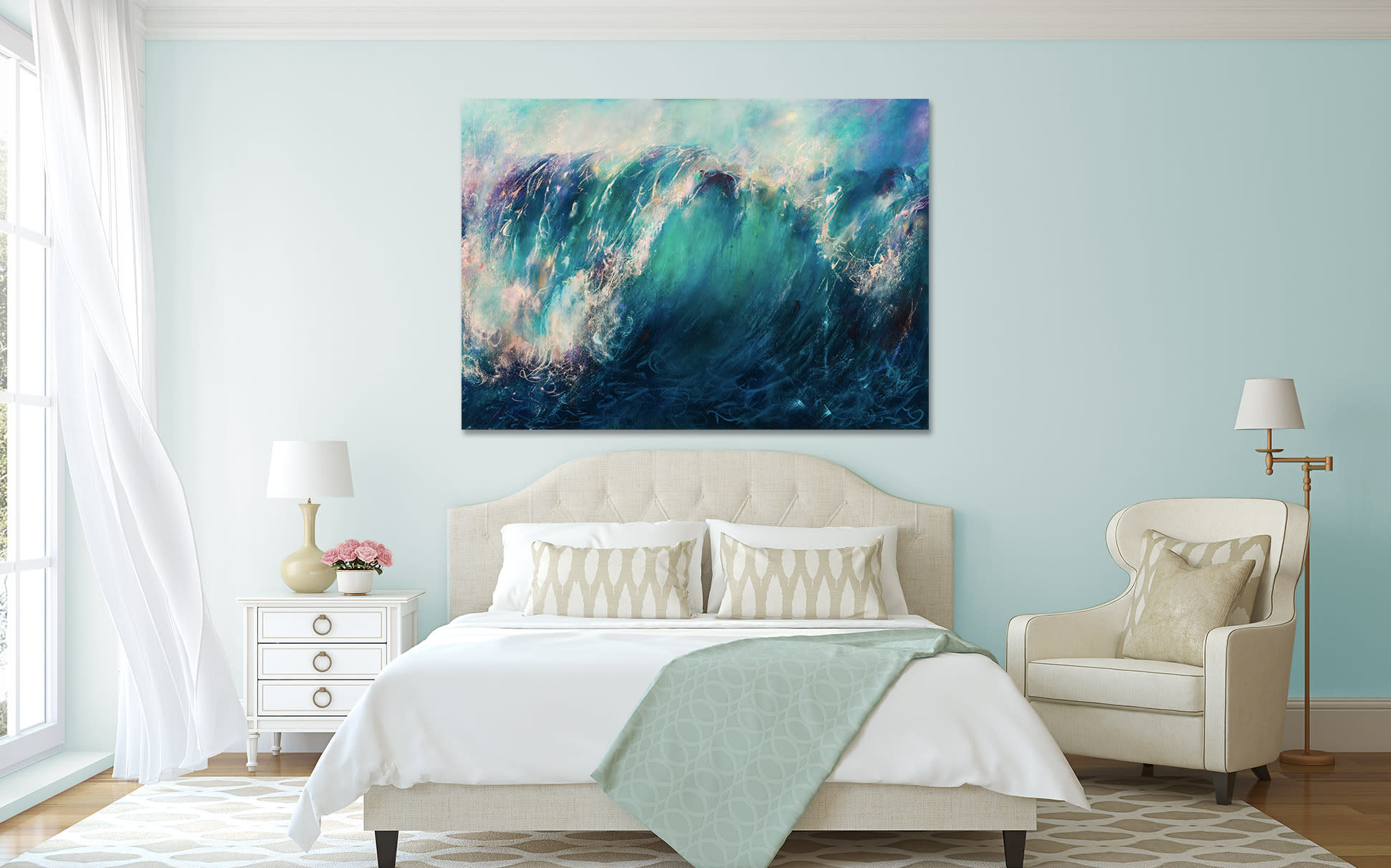 <div class='title'>           Ocean-painting-in-room         </div>                 <div class='description'>                    </div>