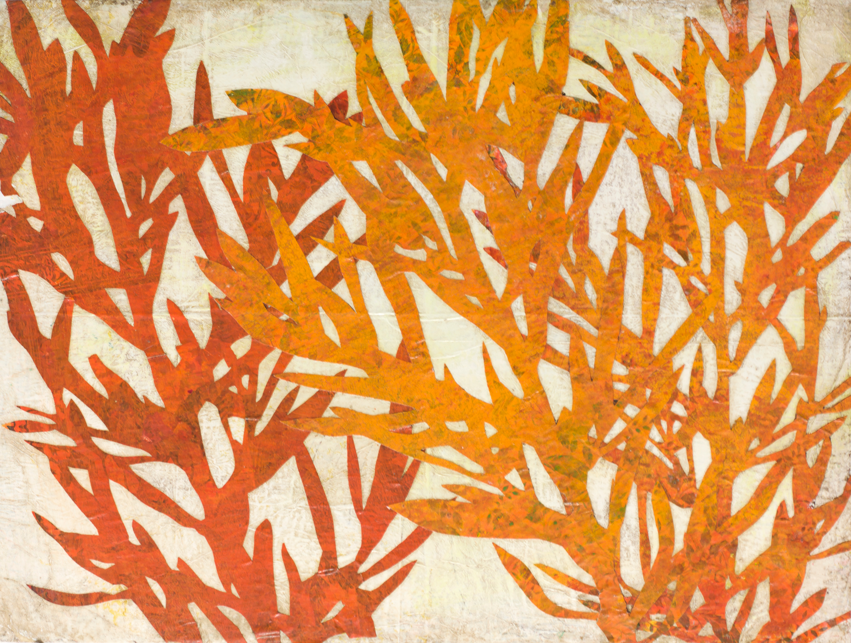 Orange plant silhouette lln6co
