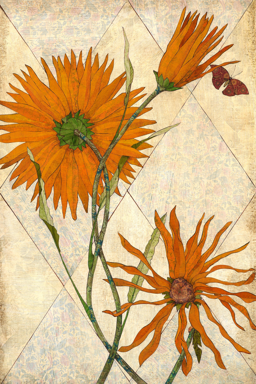 Orange daisies 24x36 nax3bn