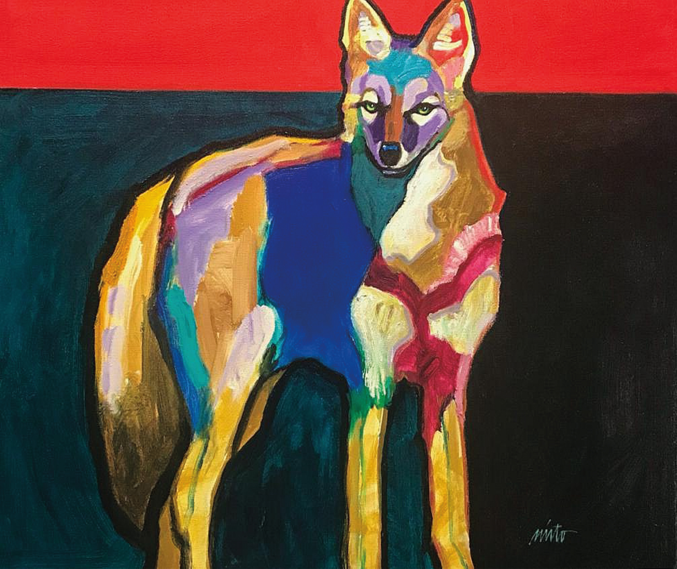 Pretty boy coyote 24x30  1000 wquxvx