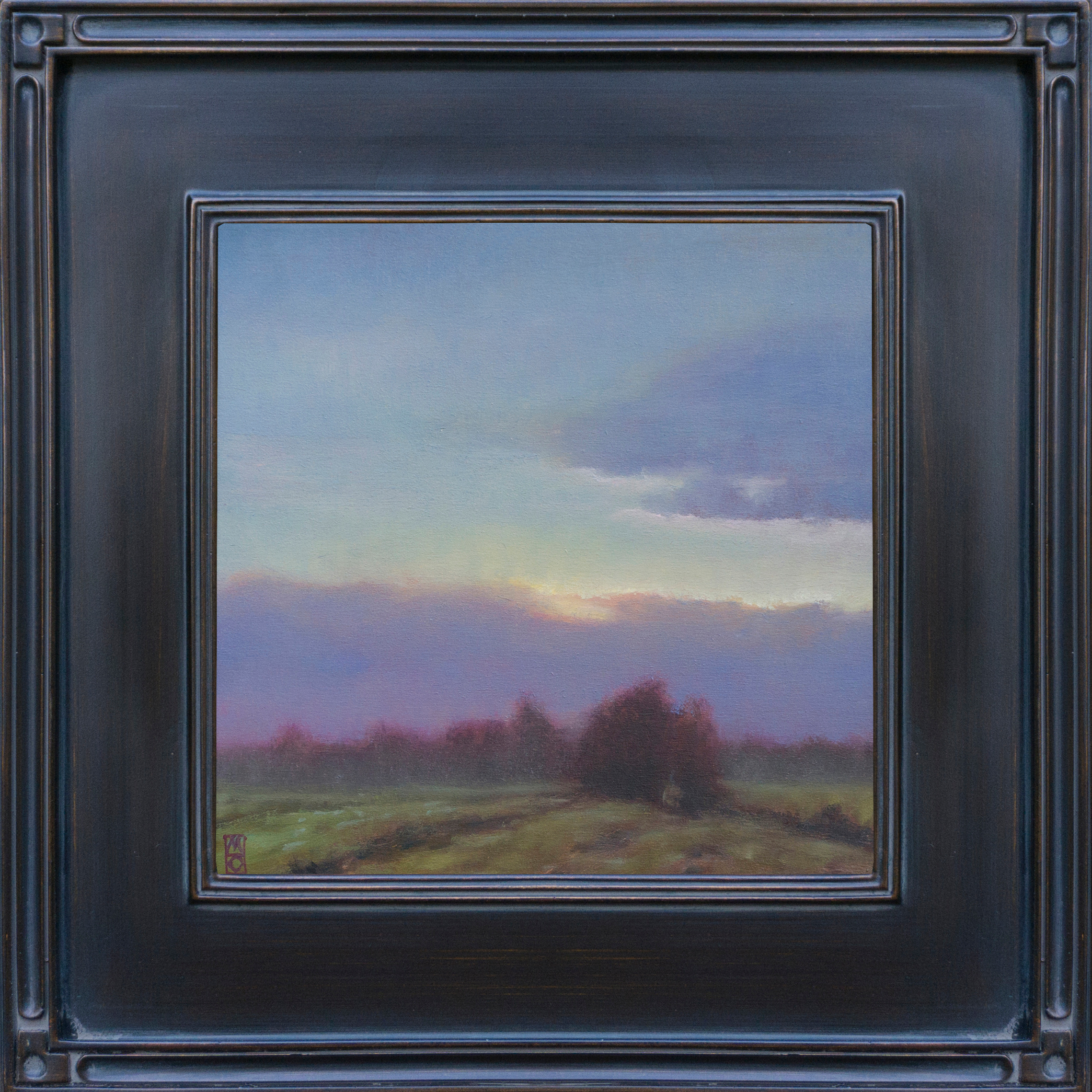 18 003 grazing land 12x12 micahel orwick framed aniidr