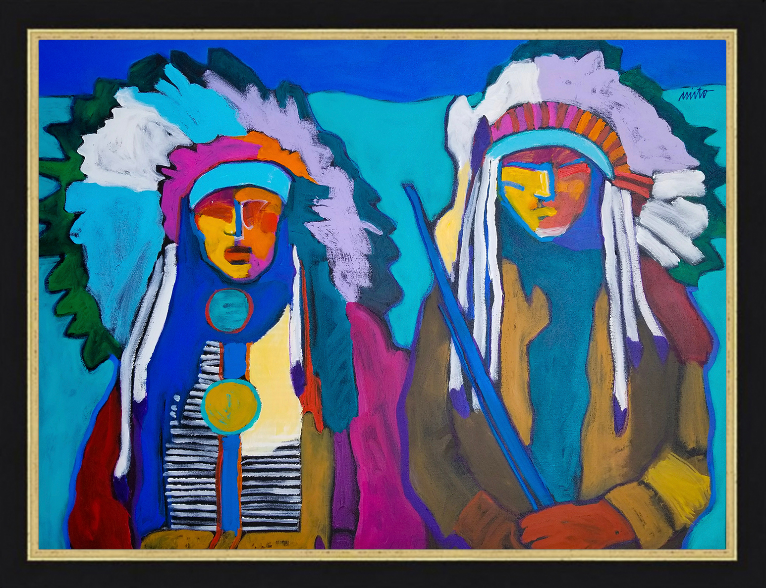 Two arapaho framed qnfouc