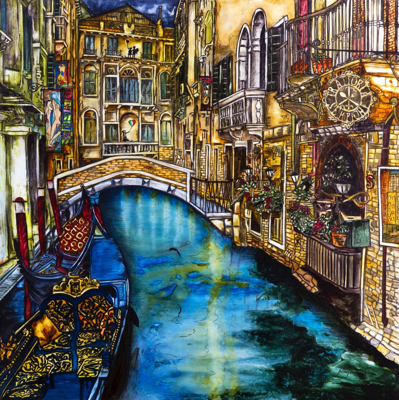 Summer in venice painting karla de lara wet paint nyc naxelf