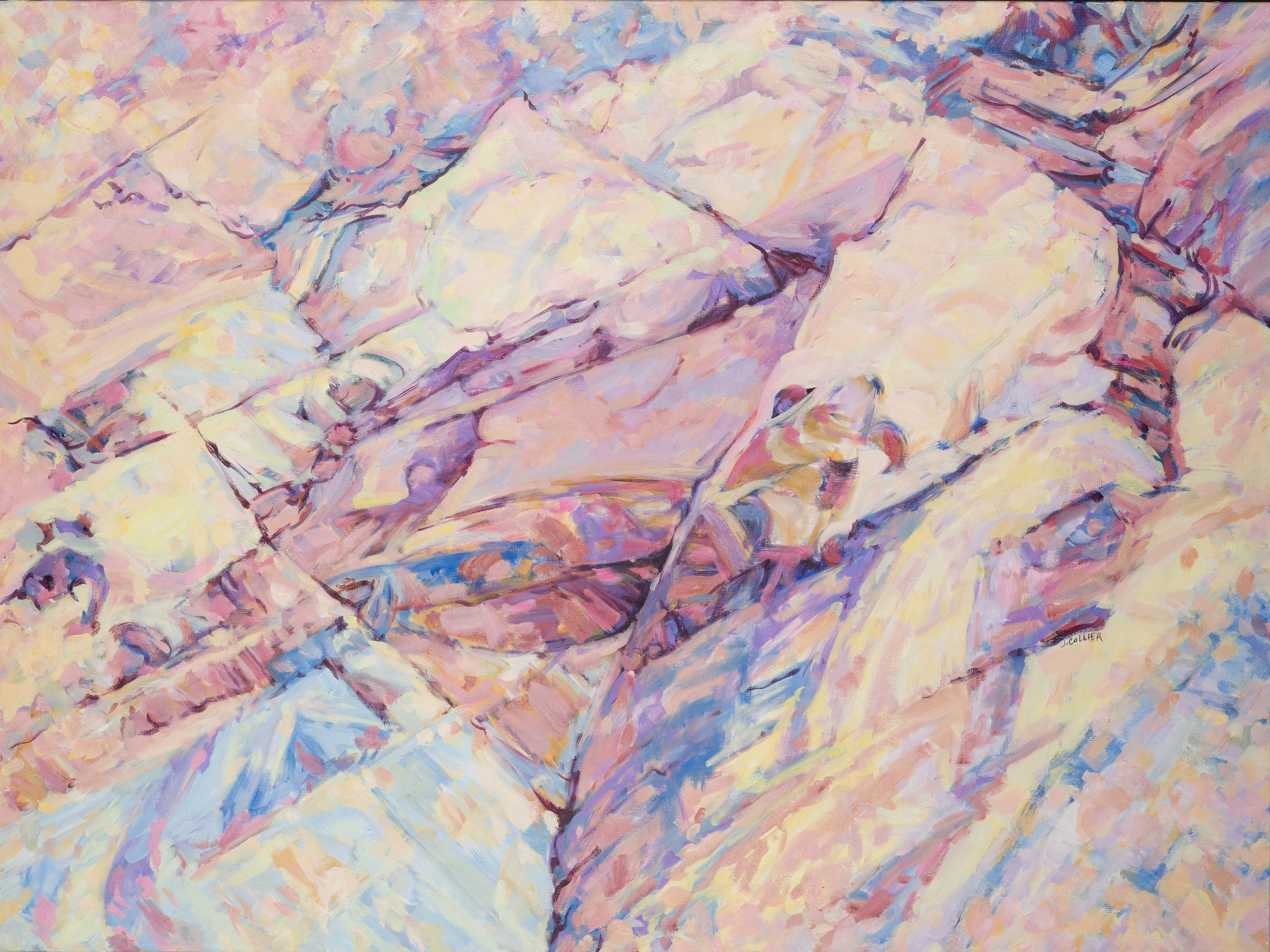 Red rock canyon   pastel cracks in time 3 horiz xttjbx