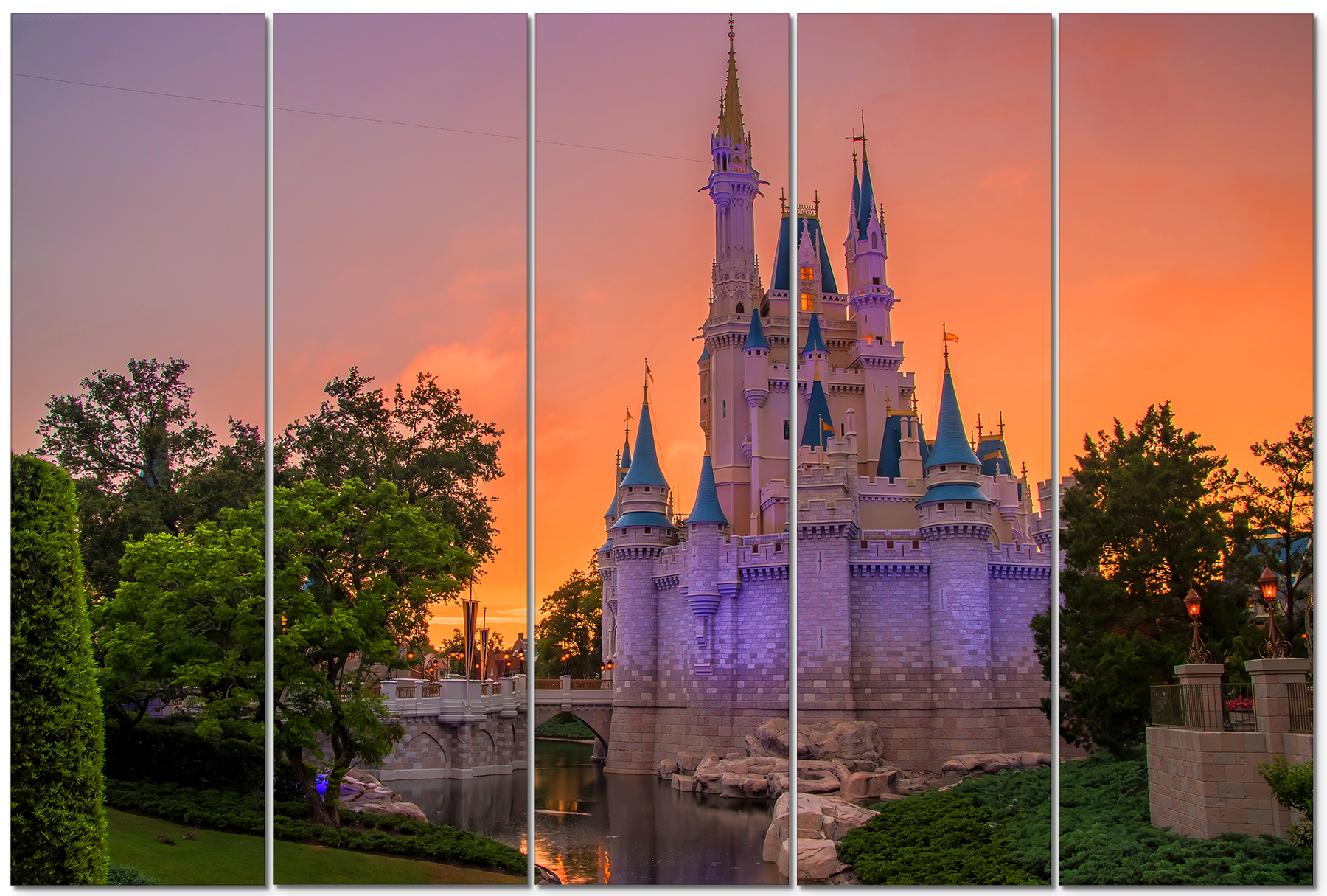 Cinderella s castle sunset umofyr