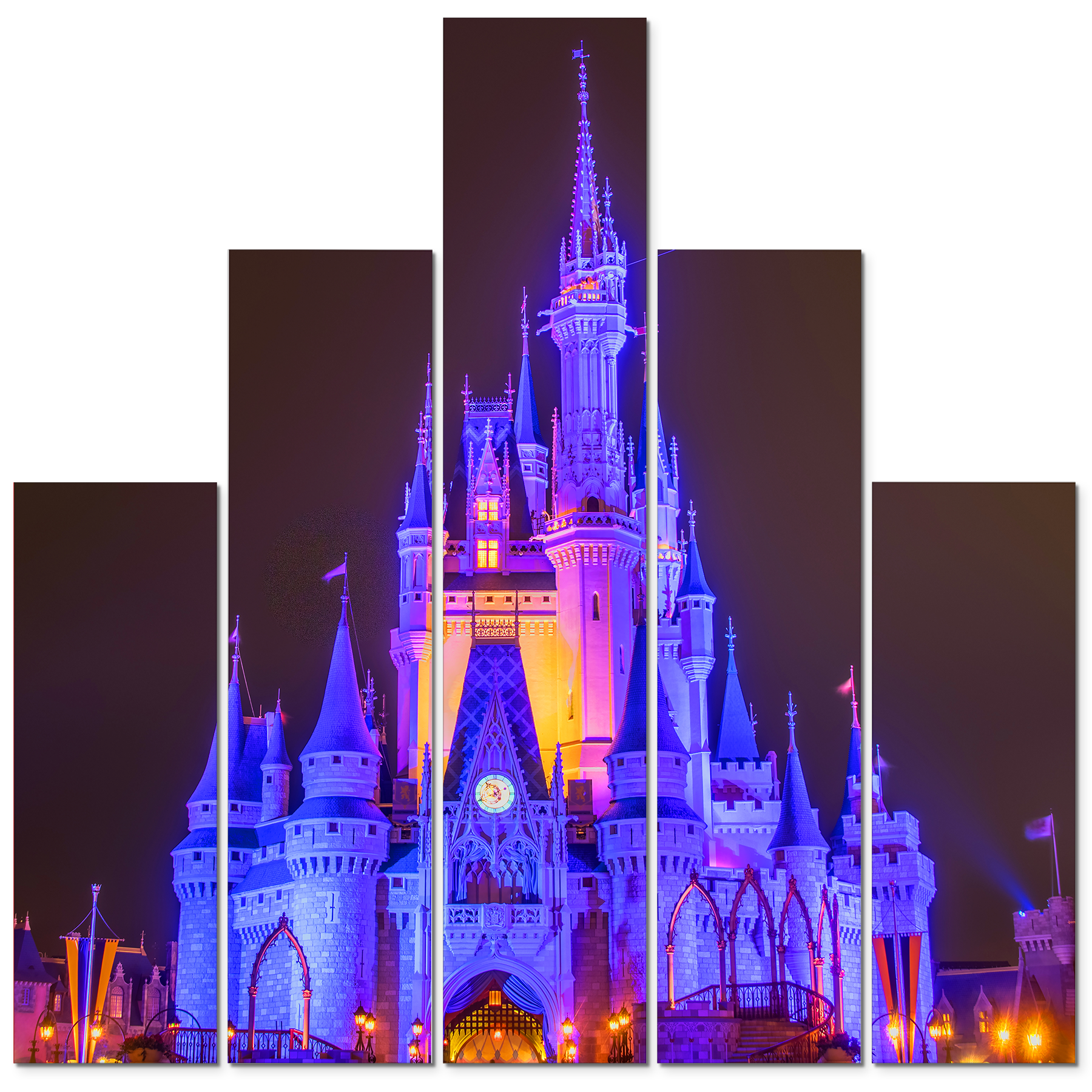 Cinderella s castle at night 1 rcgu5h