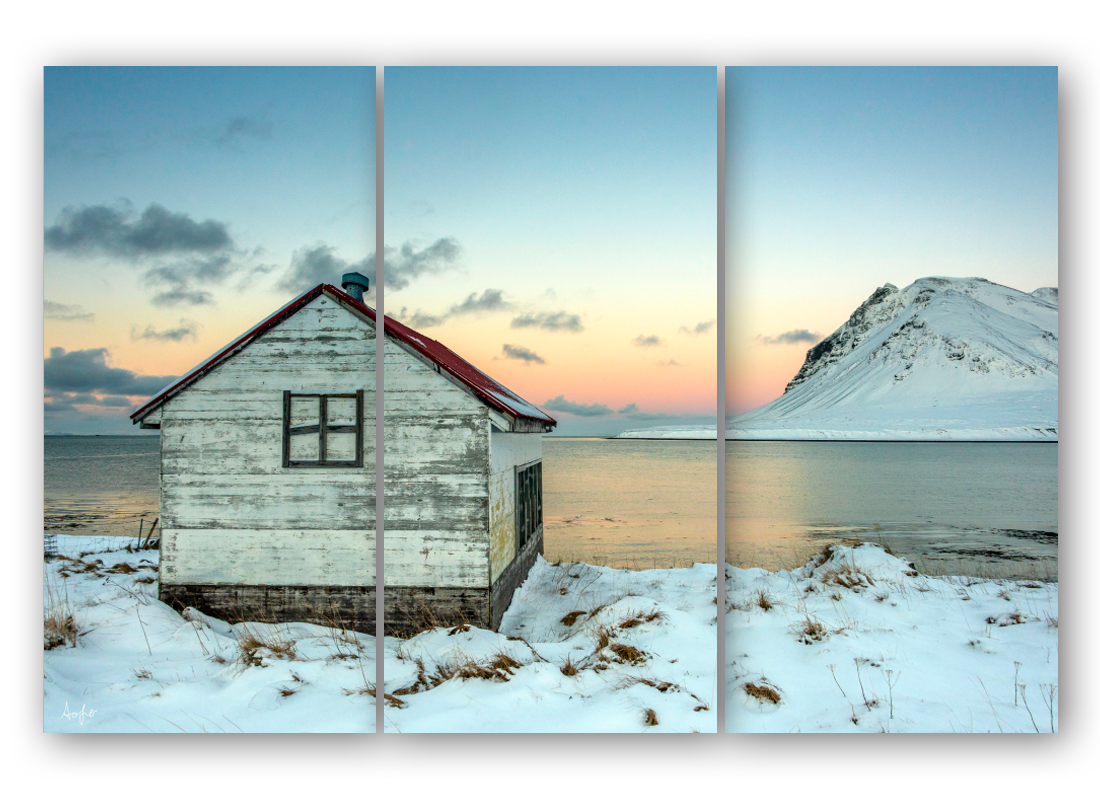 Iceland cabin triptych hx9fdc