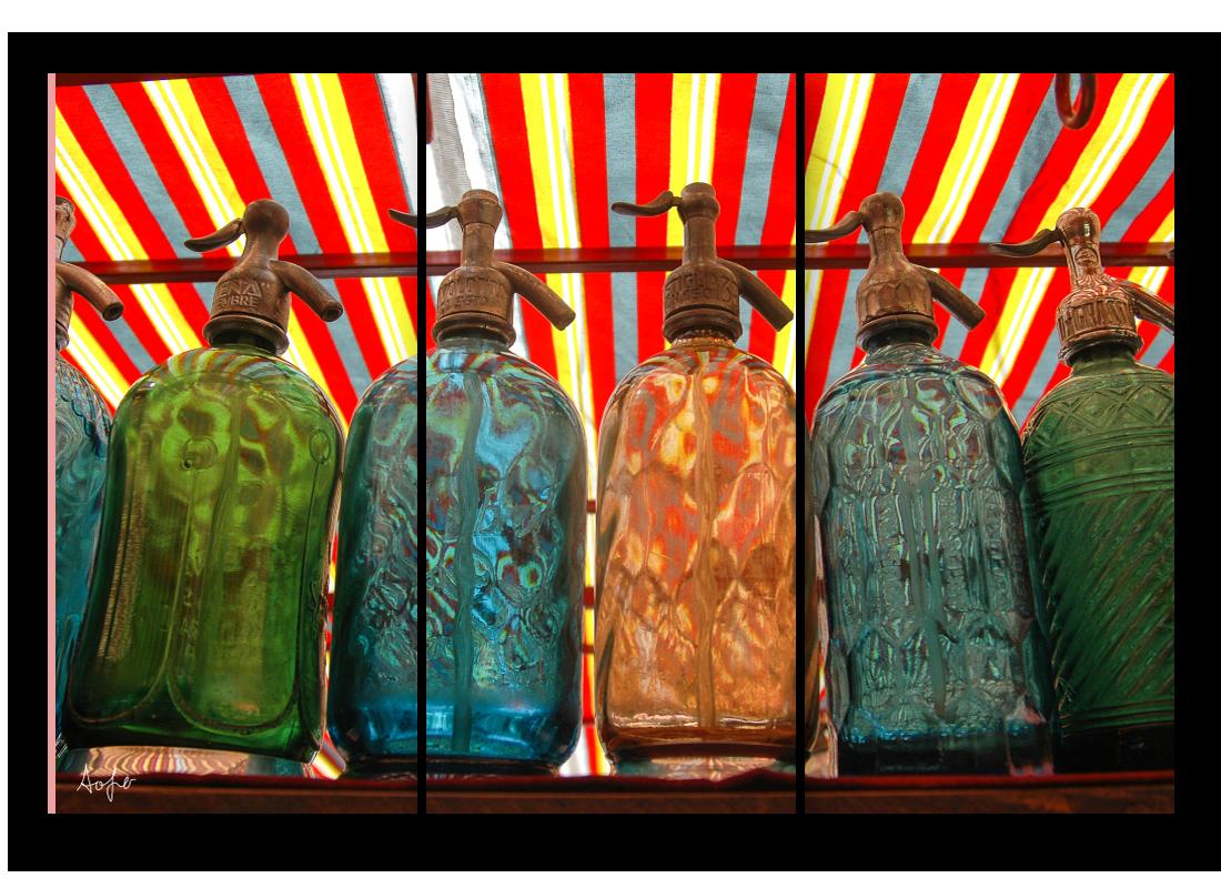 Triptych seltzer bottles abn1rg