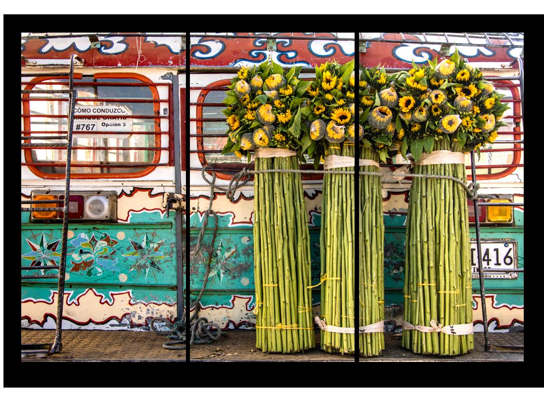 Triptych chiva flowers v8uyto