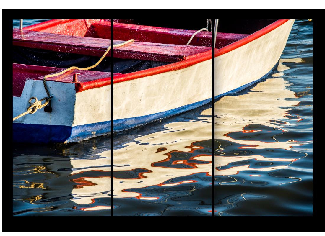 Triptych boat dr fkjrga
