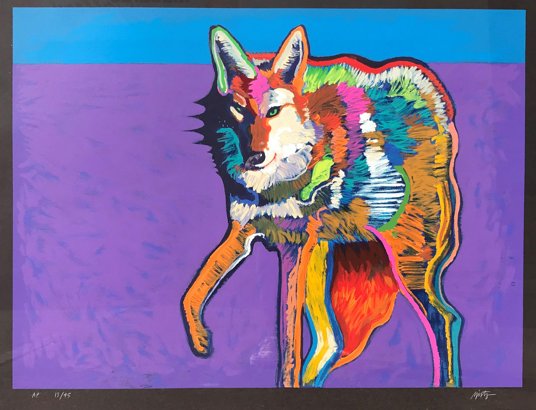 Coyote serigraph  john nieto r7xjun