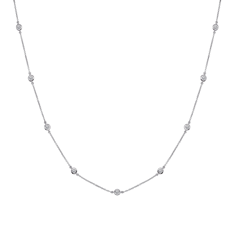 Sterling silver short floating necklace g100015 svr a 210000000355  hcpcig