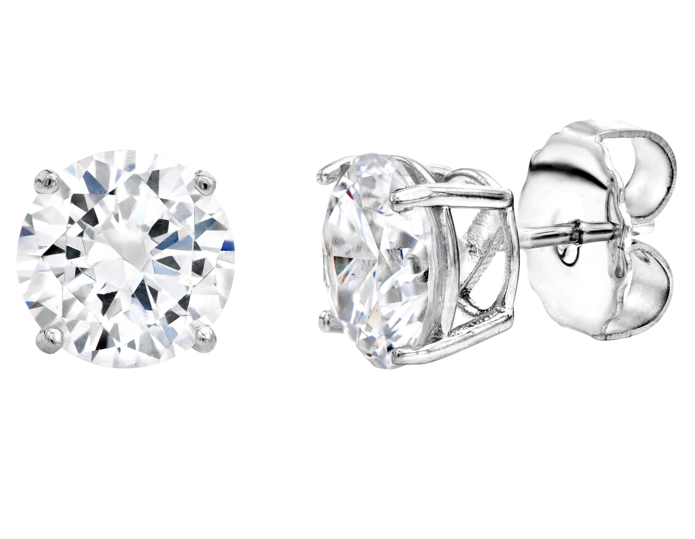 Sterling silver 4 prong 3 carat huge solitaire studs g100002 clr a 210000000324 ldgfk6