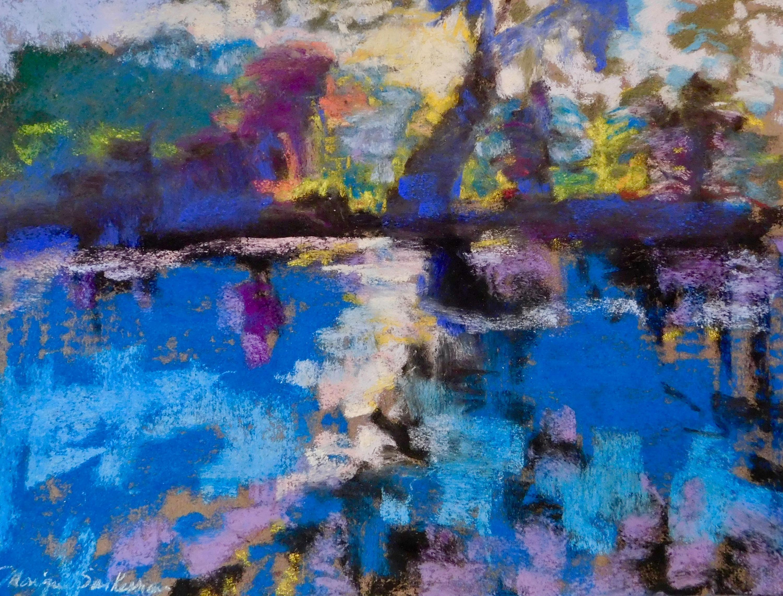 Pastel brandywine sunrise pastel on paper 11x14 traqf8