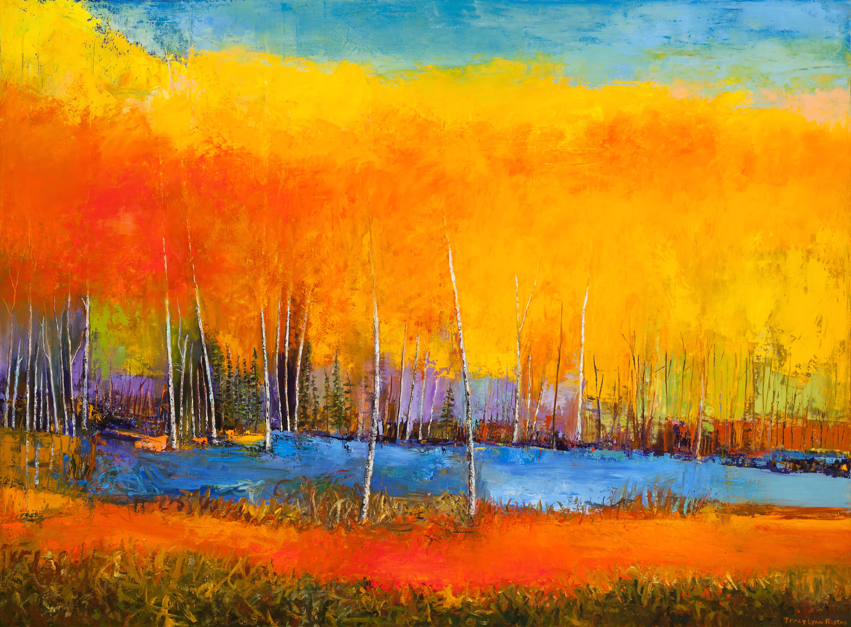Abstract landscape paintings contemporary art gallery sold ss8uud