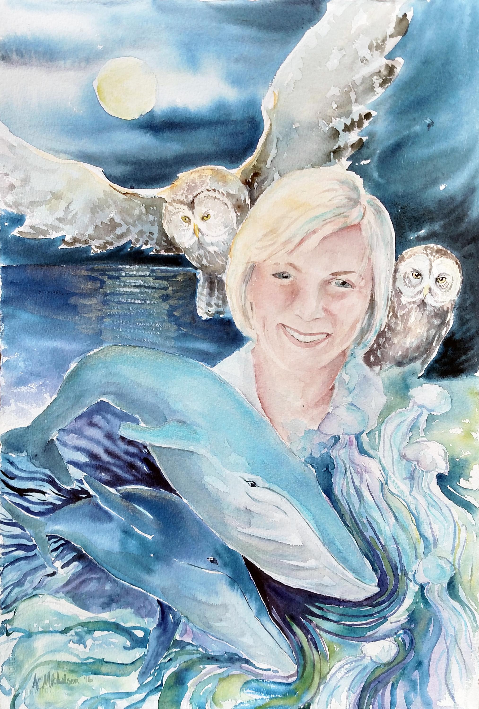 Nancy ferrari spirit animal portrait xdv4t6