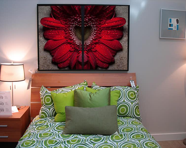 Redflower in bedroom fgobnx
