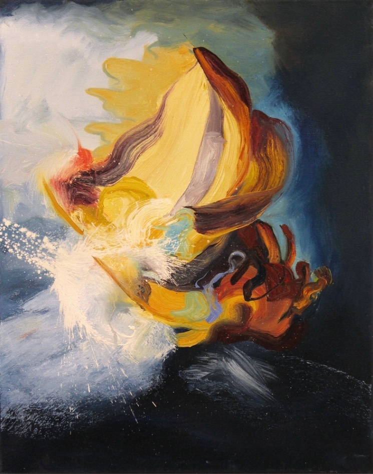 Shipwreck rembrandt original painting michael serafino l3mfkf