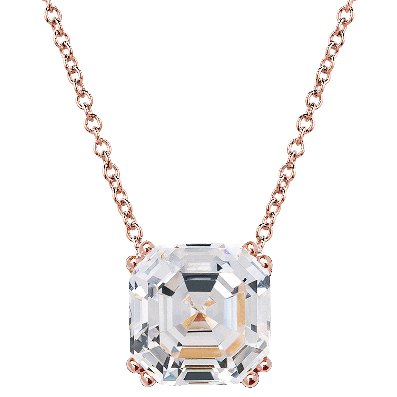 19kgp rose gold 2 carat solitaire asscher gxi84b