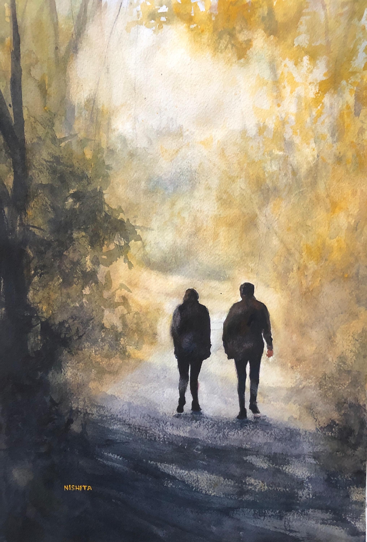 Towards sunshine watercolor 19x13 2019 afrono