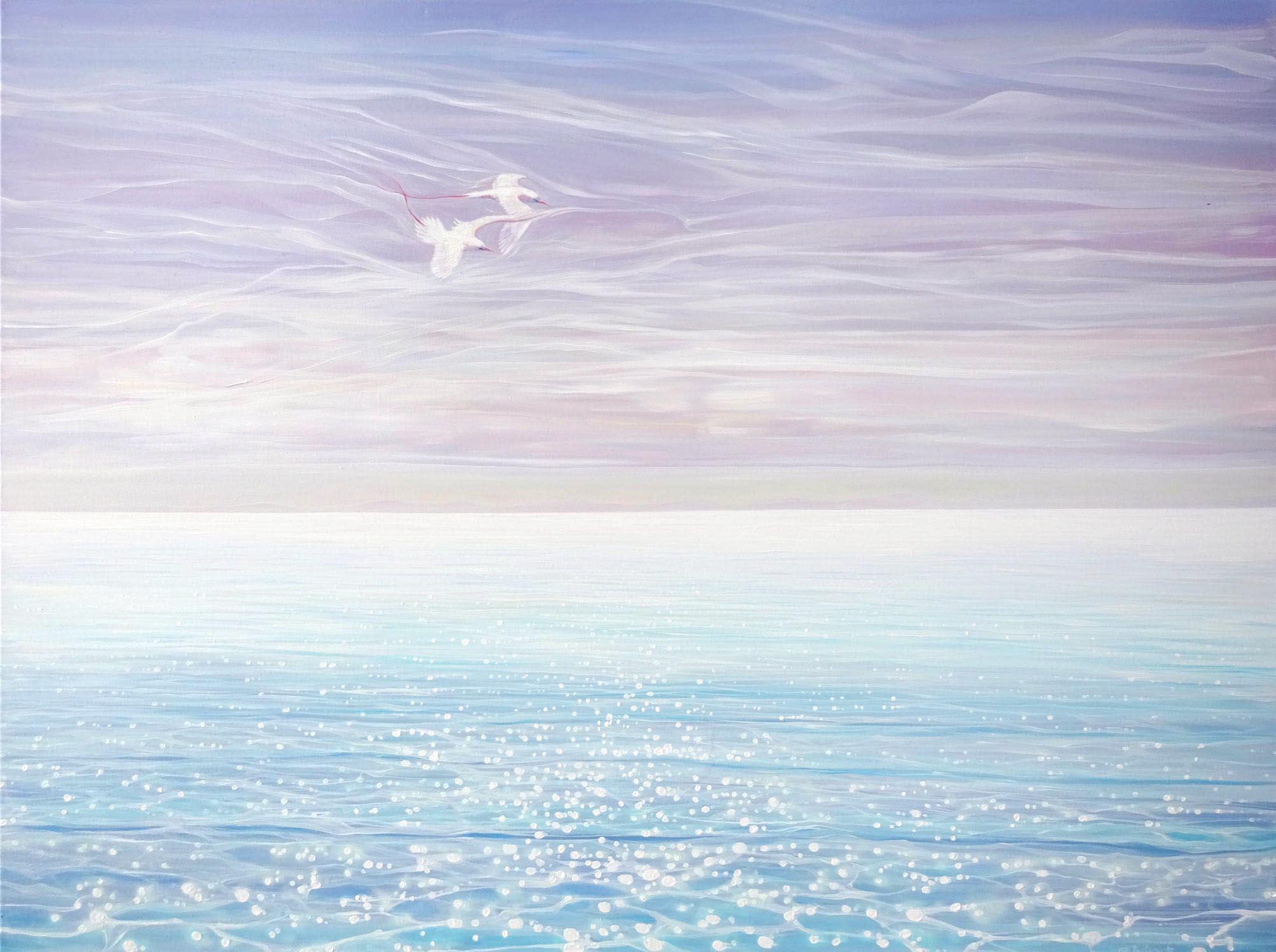 White birds blue sea 72 kuofal