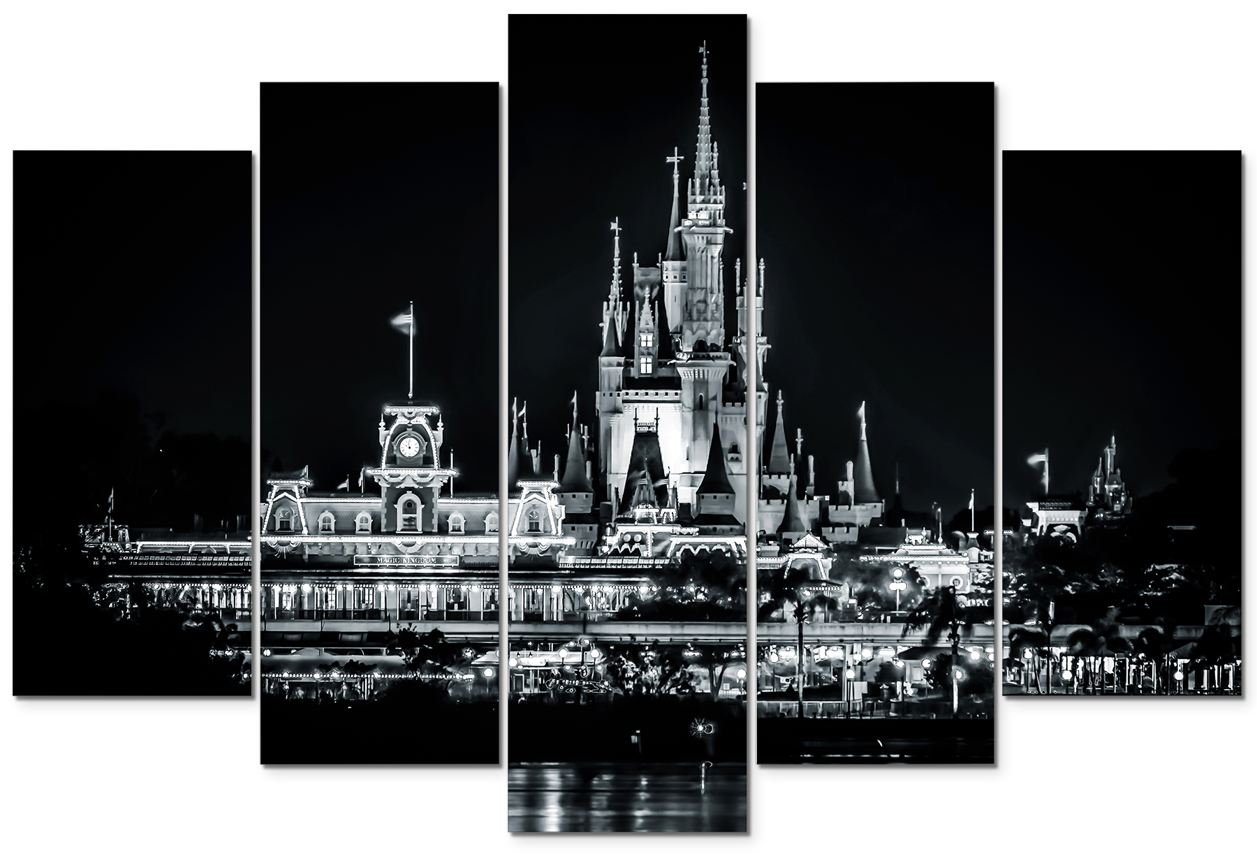 Magic kingdom black and white j0sll7
