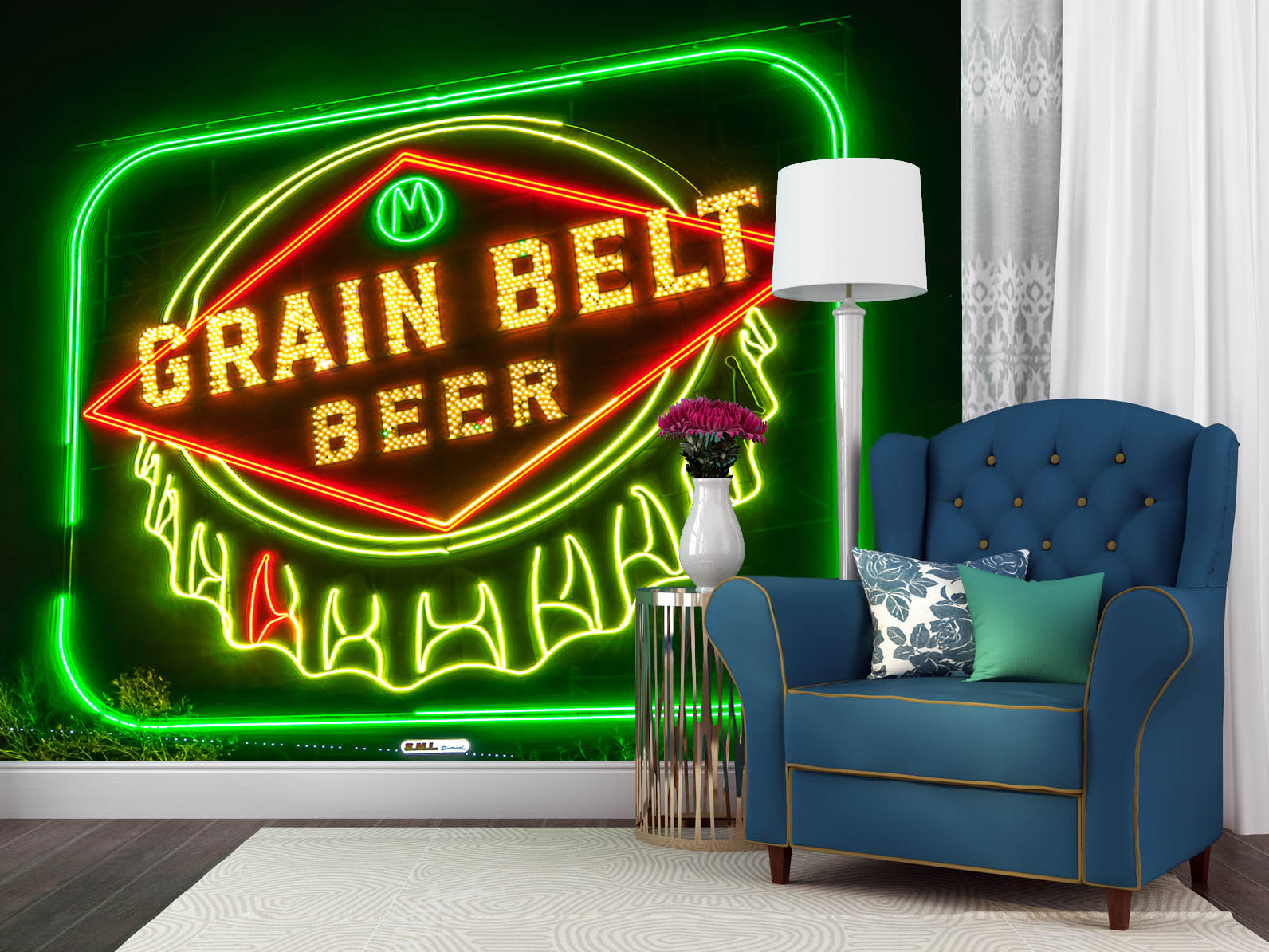 Grain belt beer sign vbqivw