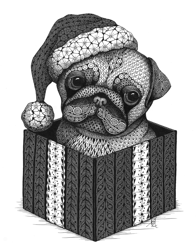 Christmas pug s99jzr