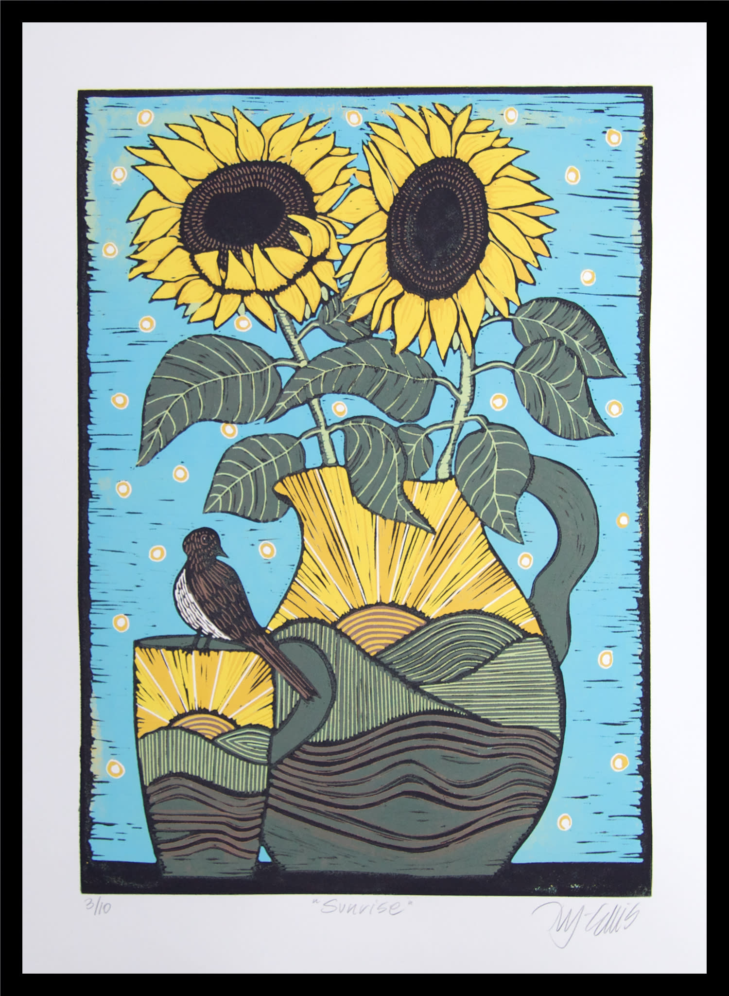 Sunflowers framed nz39pk