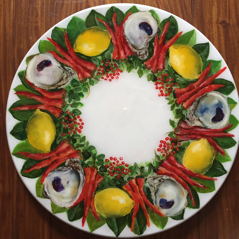Lazy susan oyster lemon chile pepper 18 yq7qva