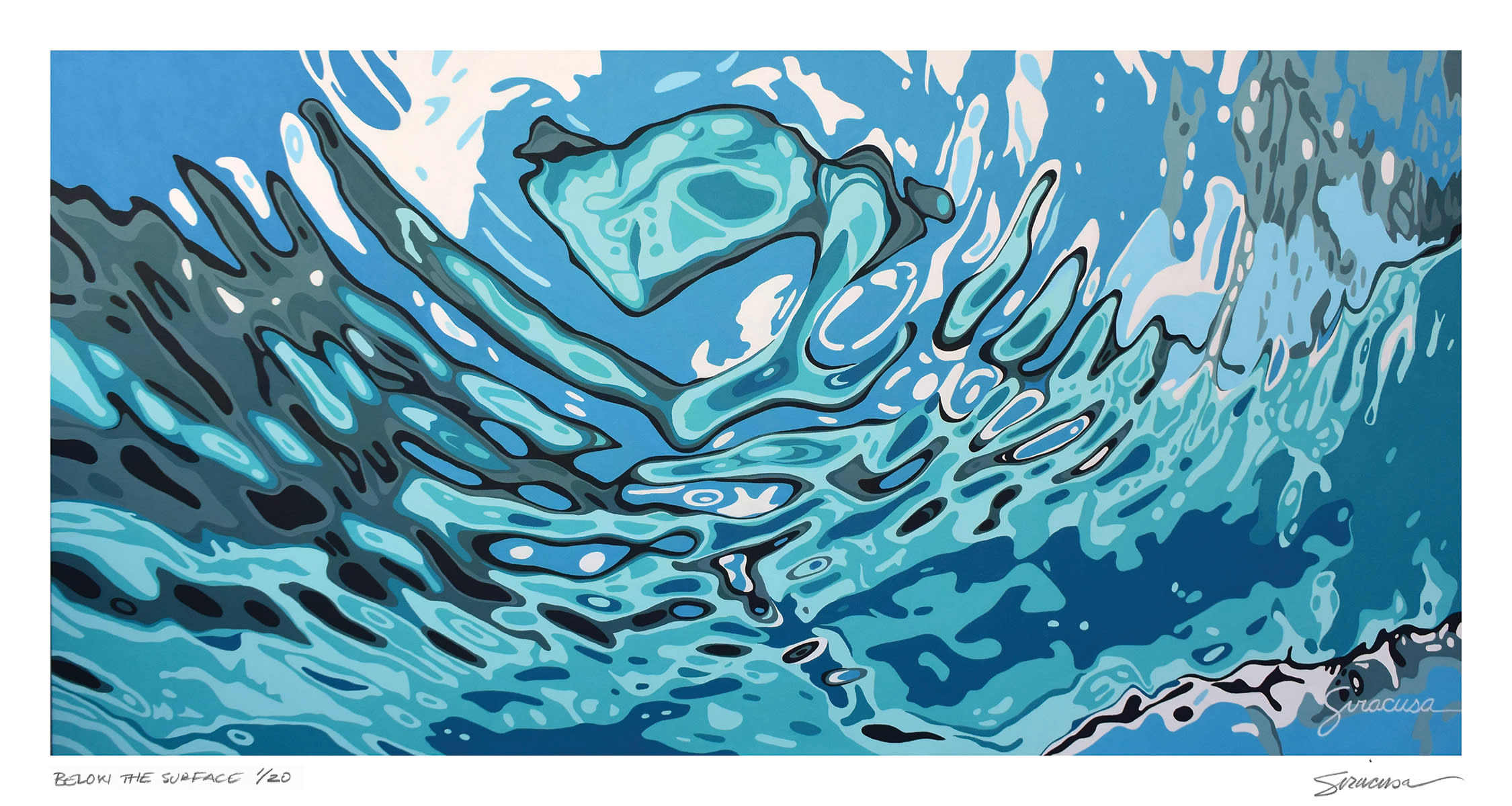 Below the surface   limited edition print nabxam