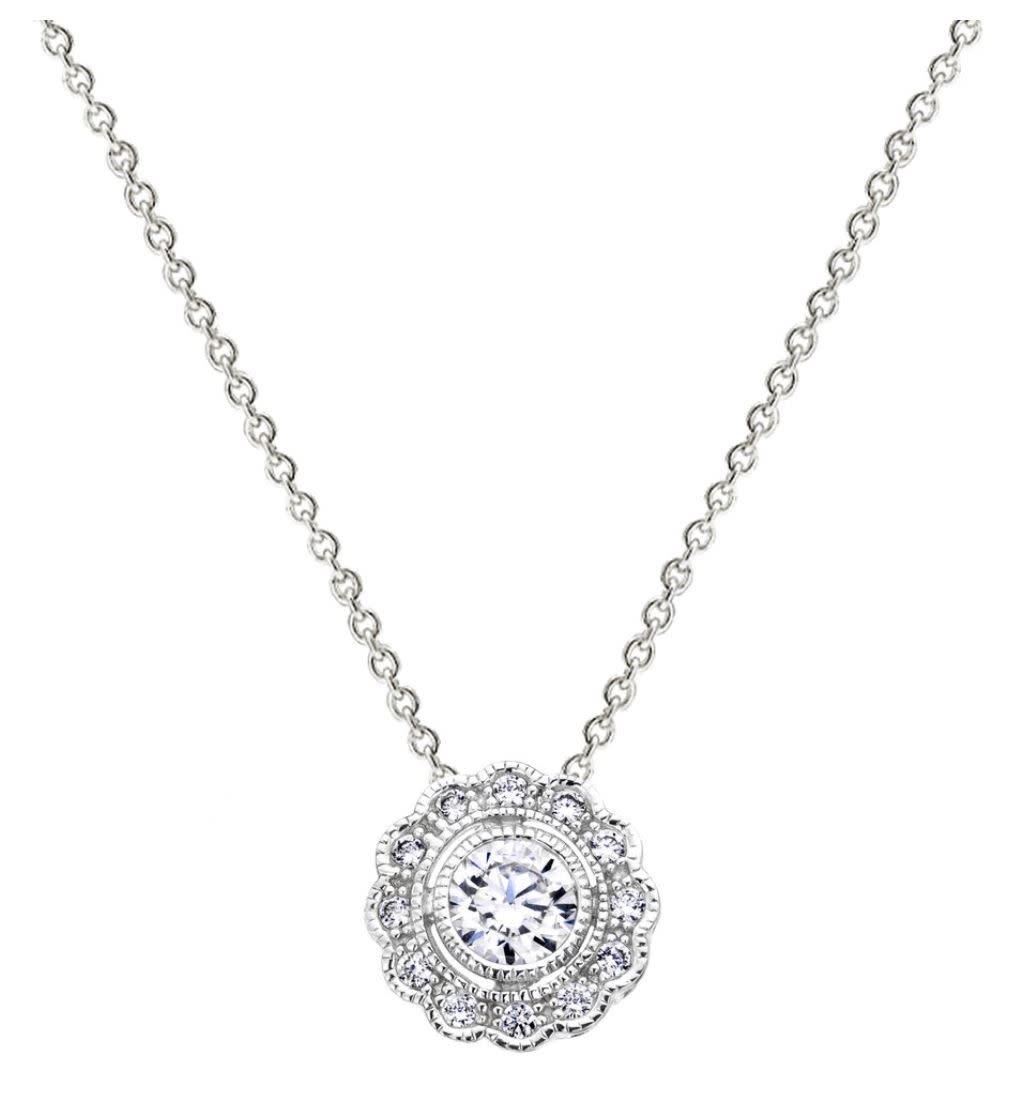 Silver vintage lace necklace 1 zxcgrx