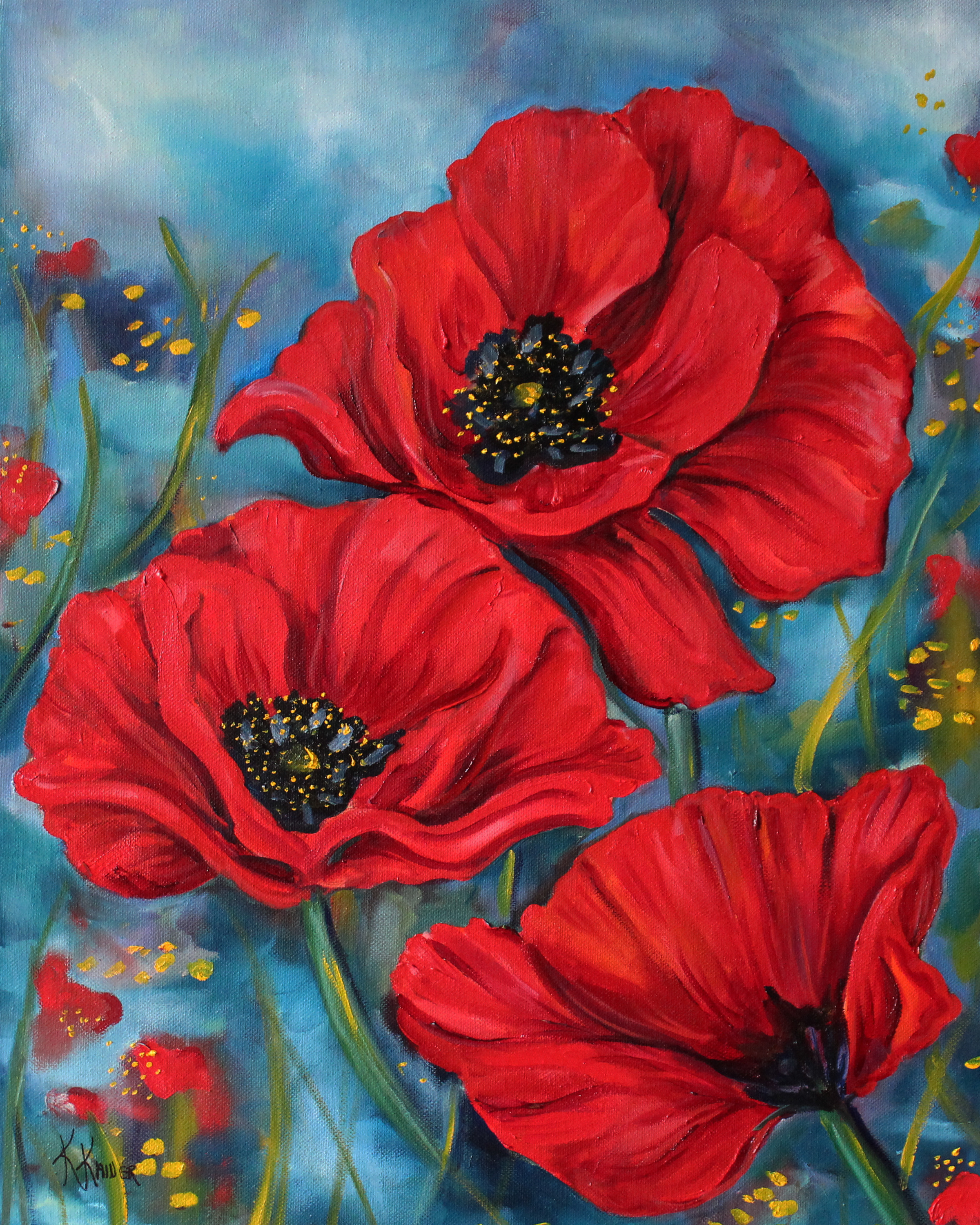 Red poppies 16x20 s6en9a